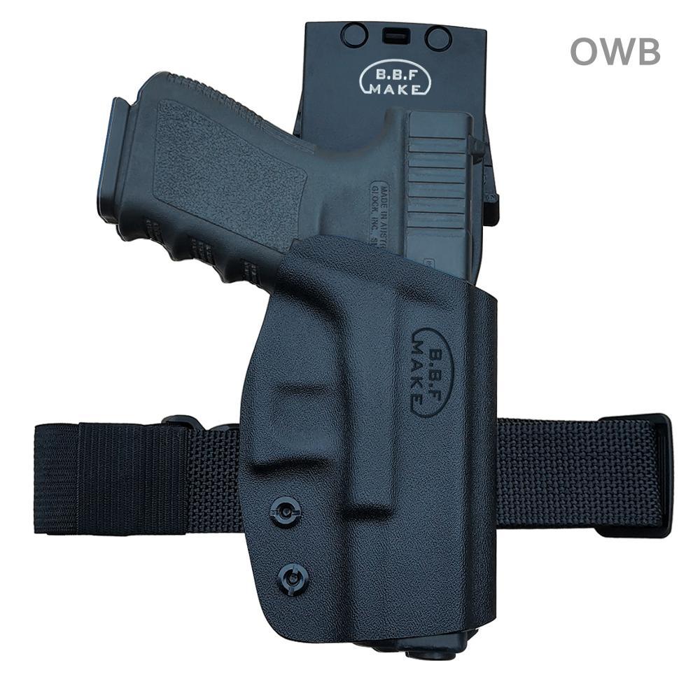 PoLe.Craft Kydex OWB Holster For Glock 19 19x 23 25 32 17 22 31 26 27 33 (Gen 1-5) CZ P10 Gun Pistol Case Belt Outside Carry