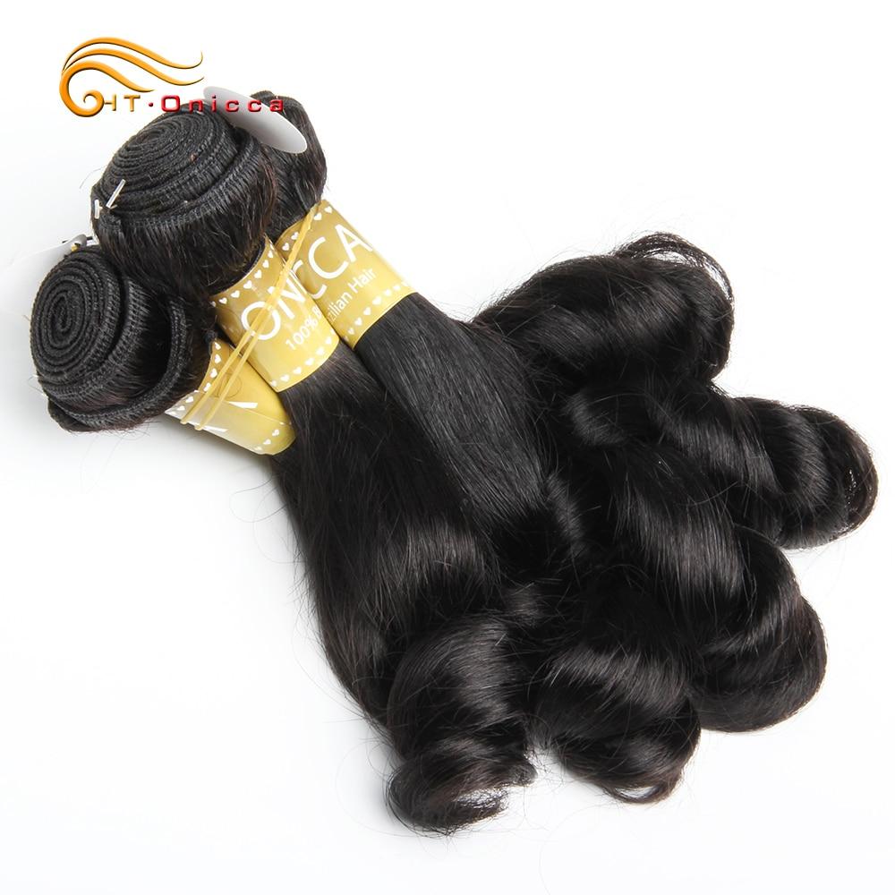 Funmi Hair Double Drawn 5pcs/Lot Egg Curl  Hair  Flexi /Pissy /Pixie Spring Curl   Bundles 6