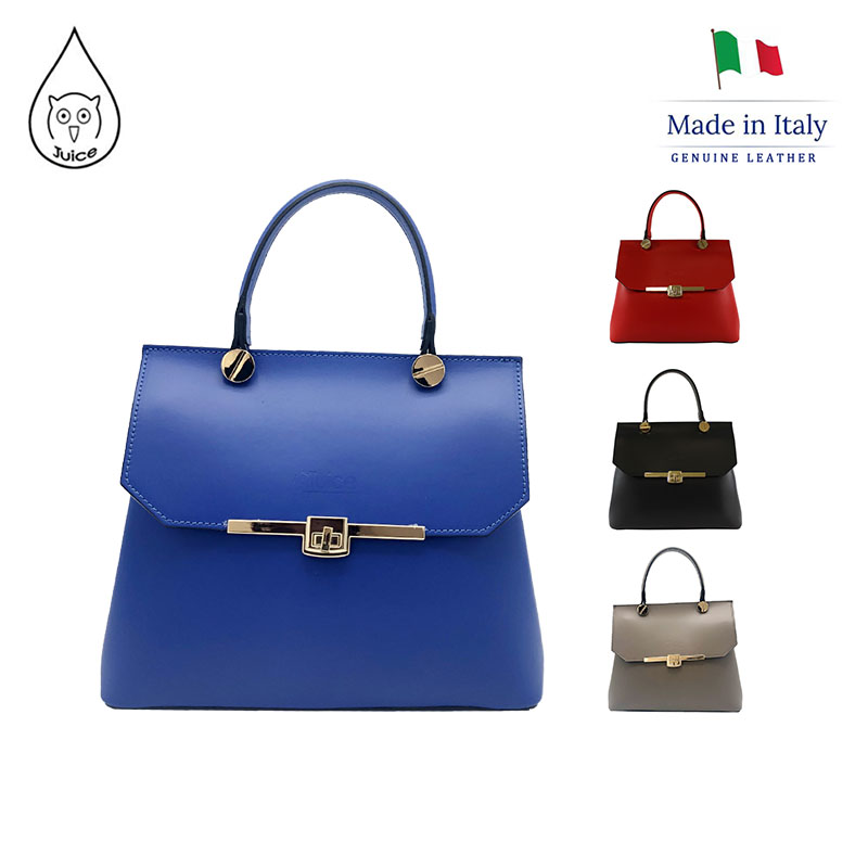 JUICE ,made In Italy, Genuine Leather, Women Bag, Shoulder Handbag 067.412