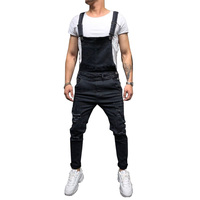 Hirigin Fashion Men's Ripped Jeans Jumpsuits Hi Street Distressed Denim Bib Overalls For Man Suspender Pants Size S-XXXL