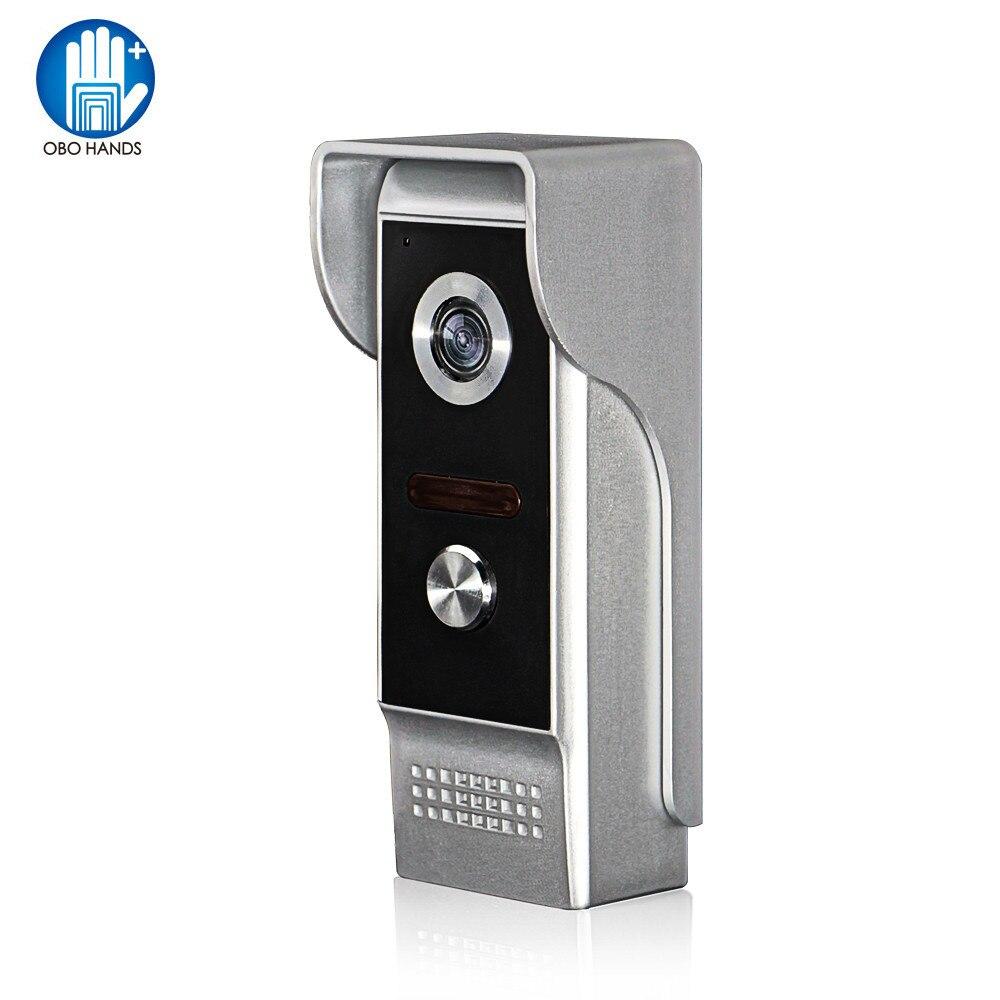 Casa 700tvl wired vídeo campainha intercom chamada telefone painel cor unidade de câmera ao ar livre com visão noturna à prova de chuva áudio bidirecional