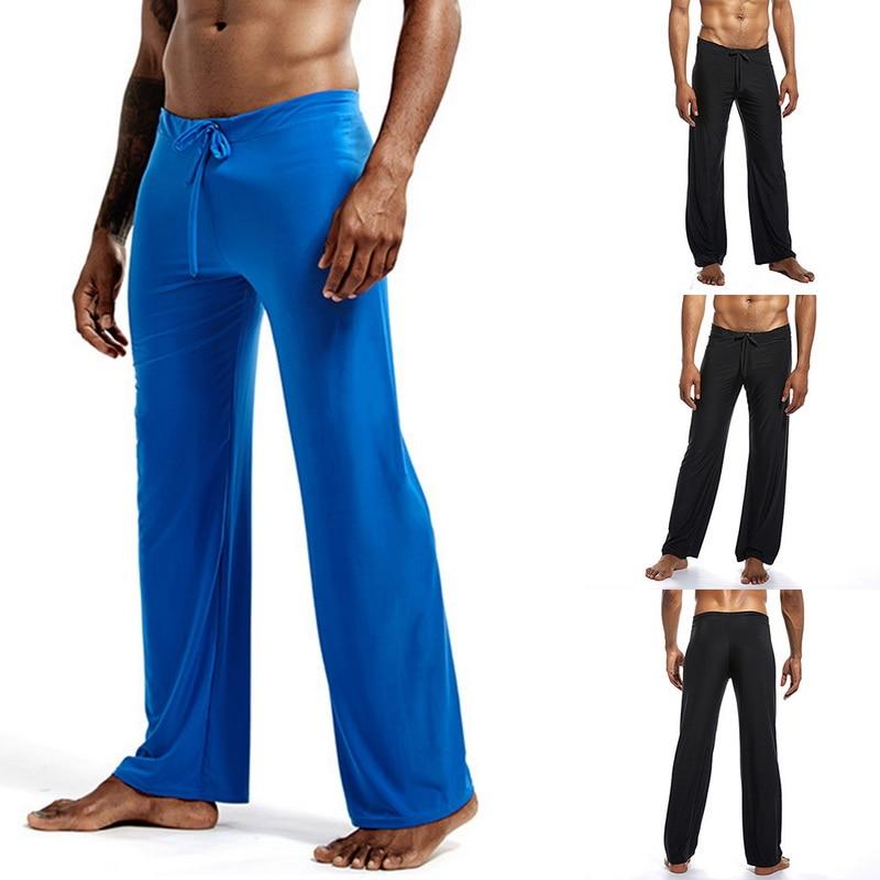 Autumn Fashion Men's Ice Silk Home Pajama Pants