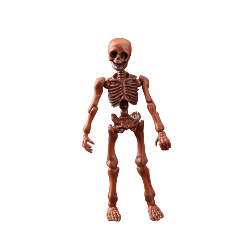 Cute Fashion Mr. Bones <font><b>Pose</b></font> <font><b>Skeleton</b></font> Simulated Skull Model Mini Figure Kids Children Toys Collectible Gifts E65D image