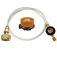 Adaptador de estufa de Gas al aire libre  válvula de depósito plano de Gas  acoplador redondo de Gas  accesorios de carga de Gas  Kit de Camping