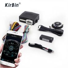 Kirbin alarme de carro com autostart, usando o aplicativo móvel para ligar o motor remotamente, partida do motor com um botão de parada de partida