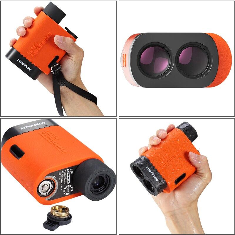 LOMVUM телескоп для гольфа, лазерный дальномер, 1500 м, спортивный телеметр, охотничий дальномер, Монокуляр, трена, лазерная рулетка - 3