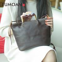 EUMOAN 2019 Handmade one shoulder slanted bag, women's plant ediban leather retro make old handbag