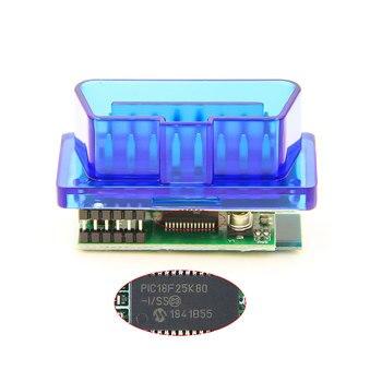 MINI ELM327 V1.5 PIC18F25K80 OBD2 Bluetooth Scanner ELM 327 V 1 5 Diagnostic adapter scan tool OBD 2 OBDII Code reader For ATAL 2