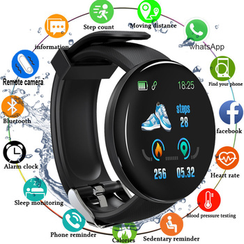 bounabay blood pressure smart bracelet watch for women watches ladies clock bluetooth waterproof android ios woman touch screen Bluetooth Smart Watch Men Blood Pressure Round Smartwatch Women Smart Bracelet Waterproof Sport Tracker For Android IOS D20 D18