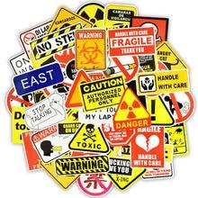 50 шт Предупреждение ждающие наклейки предупреждающие знаки