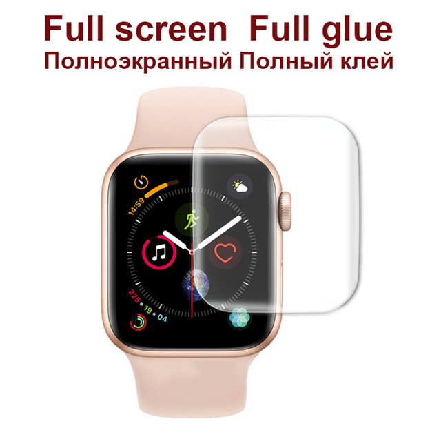 3D Full Curved Soft Tempered PET for Apple Watch Series 5 4 Ultra-thin Screen Protector for iWatch 38 40 42 44mm Not Glass 4