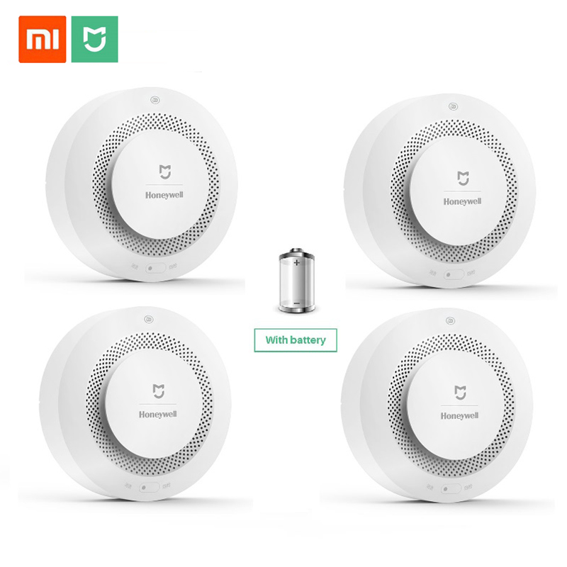 Mijia Honeywell Fire Alarm Smoke Sensor Gas Detector Work With Multifunction Gateway 2 Smart Home Security APP Control