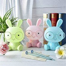 Cartoon Rabbit LED Night Light Bunny Touch Bedside Table Lamp LED Night Lamp for Children Baby Kids Christmas Gifts Home Decor ins hot h80cm rabbit children led dimmable bedside table lamp led nijntje rabbit baby kids bedroom decor lampen