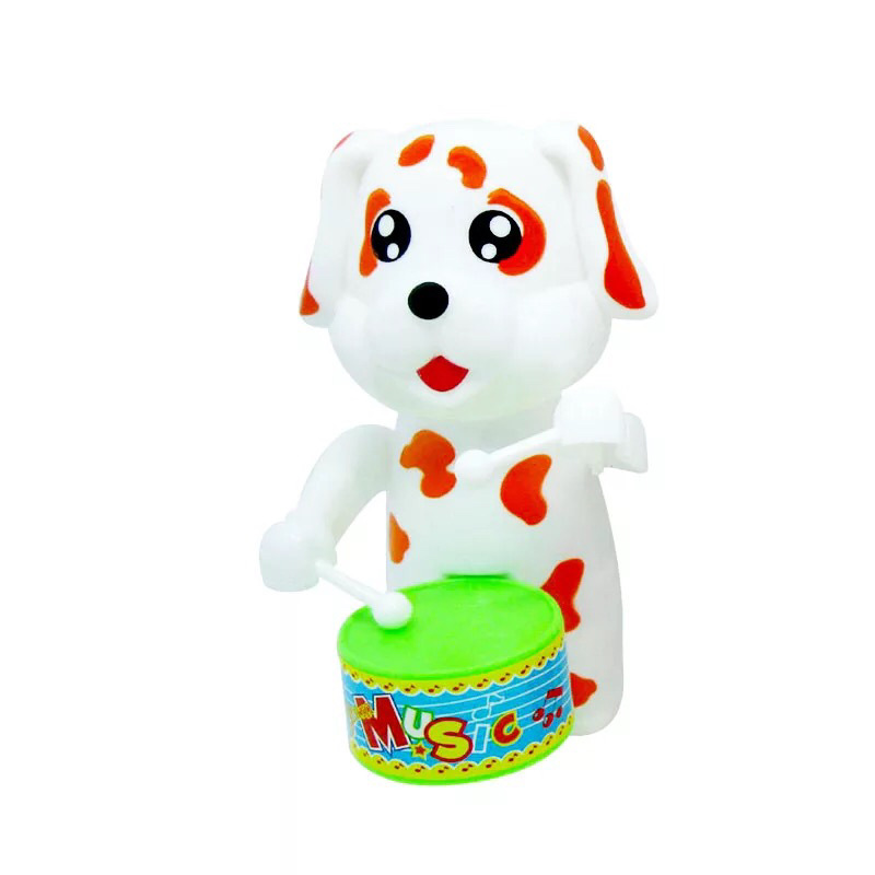 Children Year Of The Dog Toy Spring Dog Drum Toy Chain Baby Toy Gift Supply Of Goods Stall