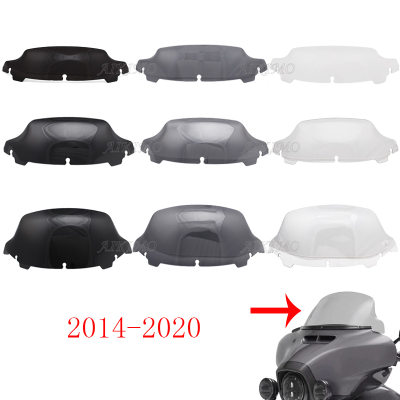 """Clear/ Smoke  /Black 4.5"""" 7"""" 10.5"""" Wave Windshield Fits For Harley Touring FLHT FLHX 2014-up 2015 2016 2017 2018"""