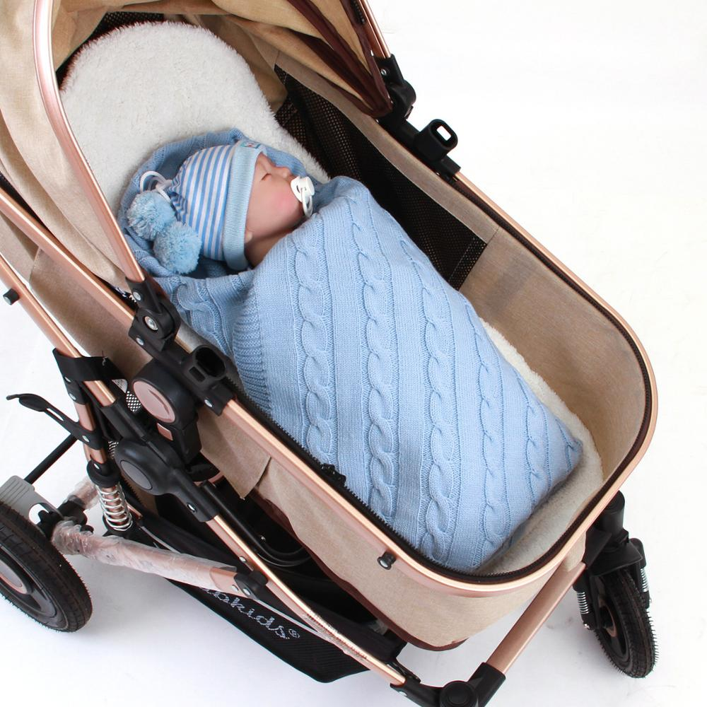 2020 Baby Blanket Knitted Newborn Swaddle Wrap Soft Toddler Sofa Crib Bedding Quilt Winter Autumn Basket Stroller Blankets