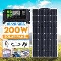 НОВЫЙ 200 Вт Dual USB Мощность банка доска 12 V/24 V Панели Солнечные с автомобильным зарядным 10/20 Вт  30 Вт  USB  зарядное устройство солнечной Зарядное ...