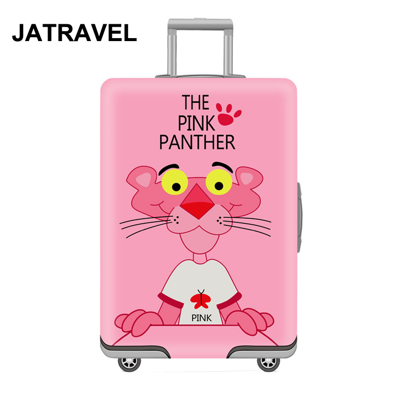JATRAVEL Cartoon Travel Luggage Protective Cover Suitcase Case Travel Accessorie Elastic Luggage Cover Apply To 18-32'' Suitcase