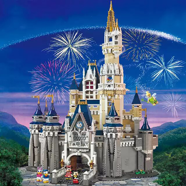 Cinderella Princess Castle Set mickey minnie architecture Building Blocks Bricks Compatible lepinglys 71040 girl Birthday Gifts