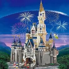 Cinderella Prinzessin Castle Set mickey minnie architektur Bausteine Bricks Kompatibel lepinglys 71040 mädchen Geburtstag Geschenke