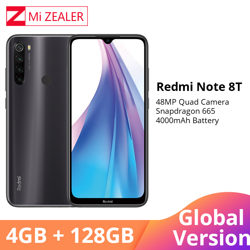 Global Version Xiaomi Redmi Note 8 Note 8T NFC 4GB RAM 128GB ROM Octa Core Smartphone Snapdragon 665 48MP 6.3