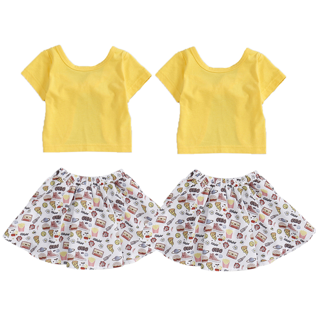 Summer Girls Clothes Sets Baby Girl Short Sleeve t-Shirt Top+Shorts Suits Kids Clothing Printed Children's Clothes 2pcs 2