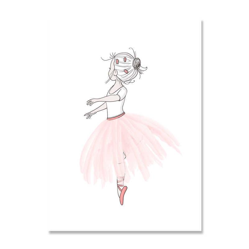البوب الفن الاطفال المشارك الحضانة قماش اللوحة الحب لوحات جدار الفن الوردي فتاة طباعة الشمال المشارك صورة لغرفة الطفل ديكور