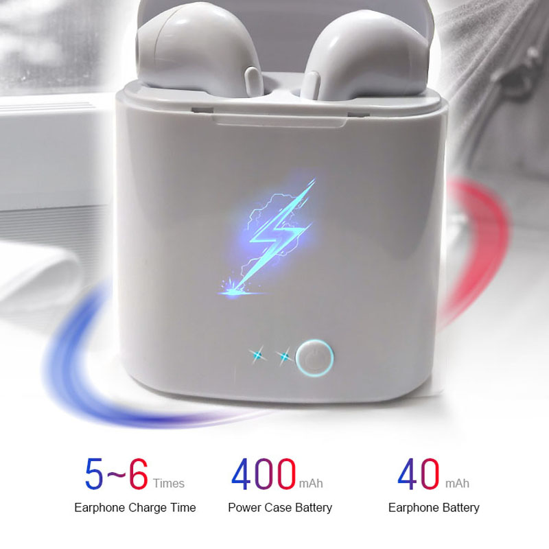 i7s Tws headphones Wireless Bluetooth 4.2 Earphone Mini Earbuds With Mic Charging Box Sport Headset For Smart Phone earphones