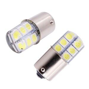 Image 4 - 1 Pc S25 1156 BA15S P21w 1157LED Witte Lichten 5050 12SMD Silicagel DC12V Auto Achterlichten Parking Brake lamp Richtingaanwijzer Lamp