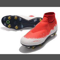 Sapatos de futebol New Fashion Adults Soccer Shoes Outdoors Grass SG Football Shoes and Long Spike Shoes Cleats Shoes
