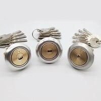 Cilindro de fechadura da porta de cobre de alta qualidade com 6 chave interruptor rotativo para fechadura da porta cilindro peças reposição ferragem|Cilind. fech.| |  -