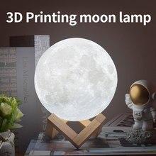 Dropshipping Moon Light Night Light 3D Print Moon Lamp LED Rechargeable light Home Decor Creative Children Gift
