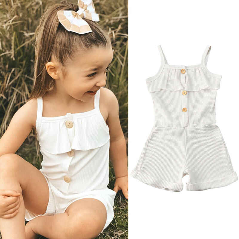 Girls Kids Summer Cotton Lace Sleeveless Button Detail Printed Flare Dress
