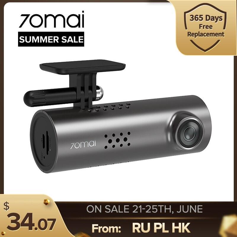 70mai Smart Dash Cam 1S английская Голосовая Управление 1080P превосходное Ночное видение 70mai-1 шт., футболка с принтом