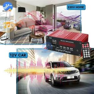 Image 5 - 200W 12V רכב אודיו Bluetooth מגבר HIFI בית סטריאו FM רדיו USB AUX TF LED מסך 2CH כוח מגברי עם שלט רחוק
