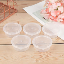 10PCS 15g/20g Plastic Transparent Storage Container Organizer Box With Lid For Playdough Slime Mud Light Clay(China)