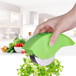 Herb Rolling Roll rollers Mincer Herbal Manual hand Scallion cut Cutter Slicers 6 Stainless Steel Blade Kitchen vegetable chop