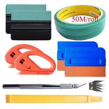 50M Knifeless Tape Design Line Car Vinyl Wrap Film Squeegee Auto Styling Vehicle Sticker Installation Cutter Knife Kit K115