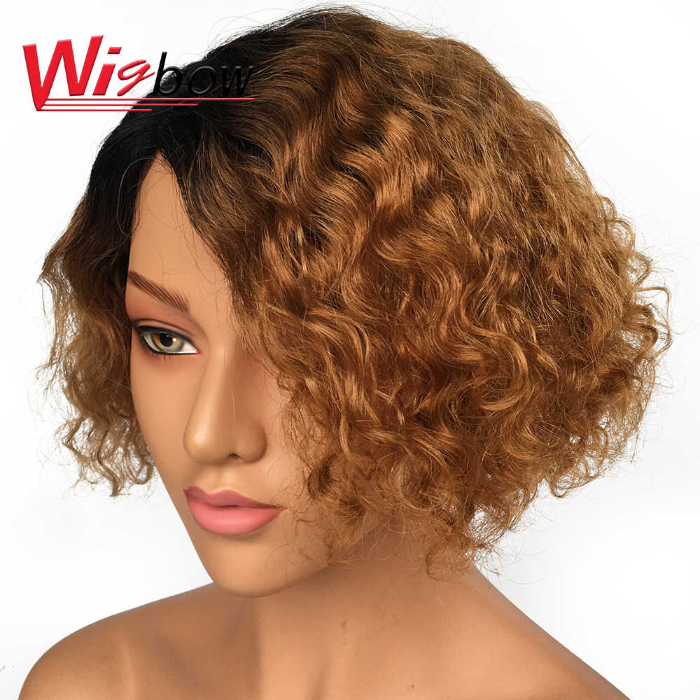Lace Short Human Hair Wigs Pixie Cut Bob Wig Differernt Color For Black Woman Free Shipping