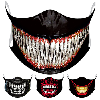 Marvel Superhero Venom Big Mouth Face Mask Adult Windproof Anti Dust Reusable Mouth Mask Washable Halloween Cosplay Face Mask image