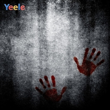 Yeele Halloween Backdrop Retro Wall Blood Handprint Scary Baby Kids Customized Vinyl Photography Background For Photo Studio