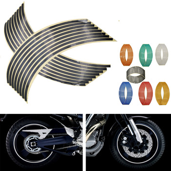 16Pcs Motorcycle Car Wheel Tire Stickers Reflective Rim Tape Moto Auto Decals For Suzuki GSF600 gsf 600 650S Bandit B-KING image