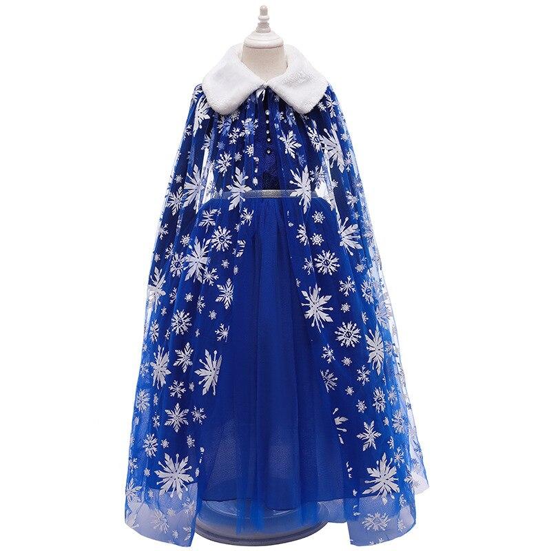 Snow Girls Dress Princess Costume Halloween Carnival bambini Dress up abiti per bambini per Snow Queen compleanno abbigliamento taglia 4-10 1