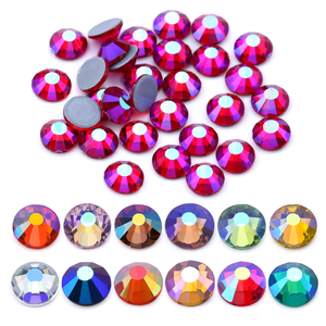 Image 4 - SS6 SS30 Multi color Crystal AB Hot Fix Rhinestone Crystal Super Glitter Strass Iron On Rhinestones For Nail Art Fabric Garment