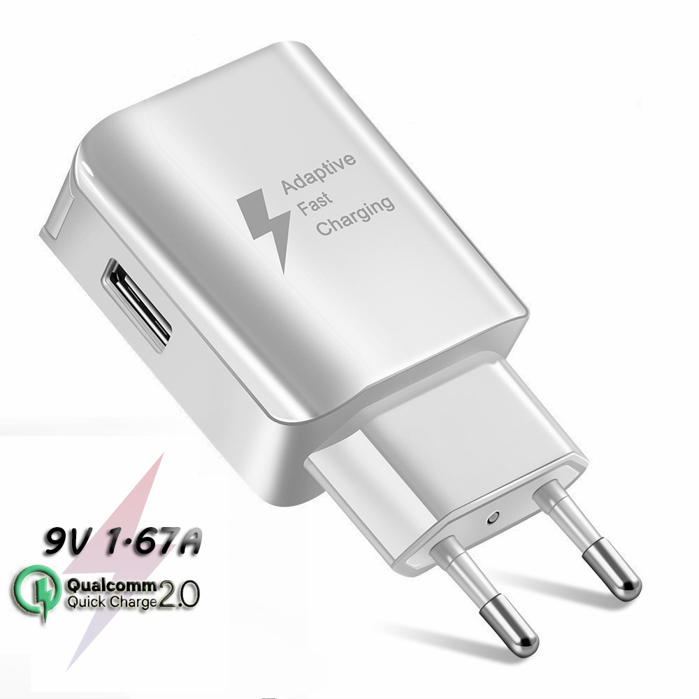 QC 2.0 Fast Charging Charger Adaptive Fast Charging Quick Charge 2.0 <font><b>USB</b></font> Charger for <font><b>Samsung</b></font> Galaxy A40 <font><b>50</b></font> M30 20 A8 7 J3 8 4 6+ image