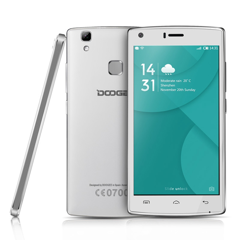 Original Doogee X5 MAX Pro Mobile Phone MTK6737 Quad Core Android 6.0 2GB+16GB 8MP LTE GPS Power Bank Fingerprint SmartPhone