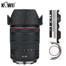 Anti Slide Lens and Lens Hood Cover Film For Canon RF 24 105mm F4L IS USM Lens & EW 83N Lens Hood Skin 3M Sticker Shadow Black