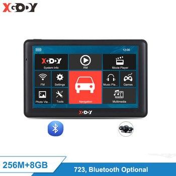 "XGODY 723 7"" Navigator Car Truck GPS Navigation Bluetooth 256M 8GB Sat Nav Rear View Camera 2020 EU Free Map 2017 Russia Navitel"