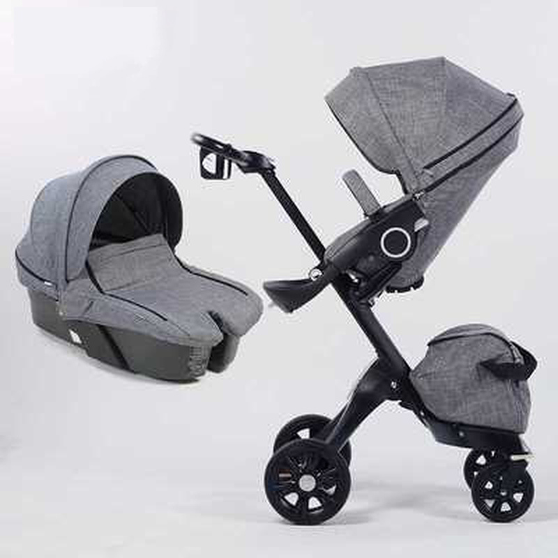 2 In 1 Baby Stroller High Landscape Folding Portable Baby Carriage For Newborns Luxury Prams For 0-3 Years Old