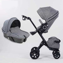 2 In 1 Baby Stroller High Landscape Folding Portable Baby Ca